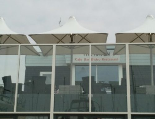 Ultra Strong Parasols Installed at Coastal Bar