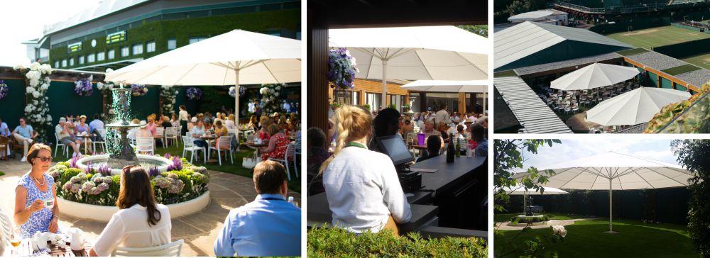 Wimbledon Jumbo Parasols Cafe Pergola